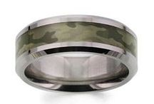 Camouflage promise rings / Camo & adventure promise rings for her