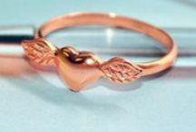 Rose gold promise rings for girls / Rose gold rings for her