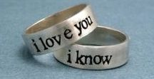 Secret message promise rings / Rings that have make the message implicit - only you two will know!