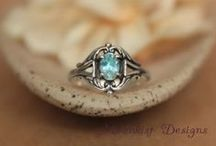 Vintage promise rings for her / Vintage style promise rings for her