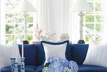 COLOUR MAGIC - Traditional Navy and Cobalt Blue / Timeless blue and white interior decor incorporating cobalt and navy blue. A perfect look for Willow pattern china collectors!