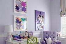COLOUR MAGIC - Lavender, Lilac and Pink / Pretty feminine colours for decorating interiors.