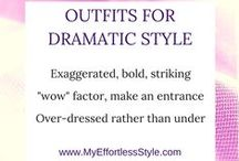 Dramatic Style Personality / Examples of the Dramatic Style Personality - wow factor, over-dressed, bold, striking accessories, hairstyle bold, star of the show, bold colors, animal prints, exaggerated style, makeup is drama, stiking red lips