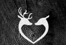 Buck and Doe rings / His doe / her buck promise rings - deer heart