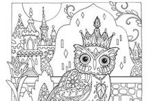Colouring pages for Kids and Adults | Printables / Visit my Etsy Shop and buy my printable art and mandala: https://www.etsy.com/it/shop/PowerfulColours |  Sign up as an affiliate and earn 50% for each sale with this link: https://payhip.com/auth/register/af5779797d1ae1b