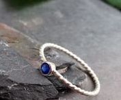 Birthstone promise rings for her / Promise rings with a birthstone of your birth month