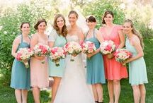 Wedding Party / Bridal Party, bridesmaids all prettied up