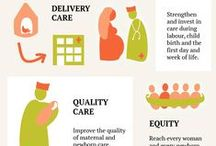 Newborn health project / materials for my newborn and maternal health related info-graphic projects