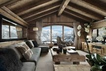*  Winter - Interior / Winter indoor, interiors, mountains architecture