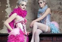 costumes in lingerie style / theatrical costumes and so which are influenced by lingerie