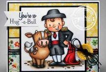 Hug-A-BULL / SugarPea Designs - Hug-A-BULL stamp set