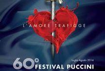 Manifesti 60° Festival Puccini / Raccolta di manifesti del 60° Festival Puccini di Torre del Lago