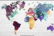 Wereldkaarten / Wereld- en landkaarten als wanddecoratie in alle soorten en maten.