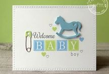 Welcome Baby / SugarPea Designs - Welcome Baby stamp set Inspiration board