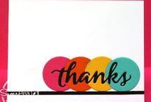 SugarCuts - Thanks / SugarPea Designs: SugarCuts - Thanks word die Inspiration Board