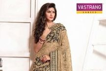 Embroidery Sarees / #exclusive #designer #ethnic #women #clothing #embroidery #sarees. Buy embroidery sarees online at great rates at www.Vastrang.com.