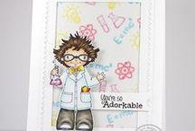 Adorkable / SugarPea Designs - Adorkable Stamp Set Inspiration Board