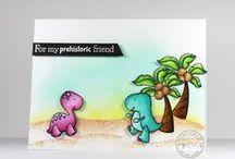 Prehistoric Pals / SugarPea Designs - Prehistoric Pals Stamp Set Inspiration Board