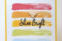 Watercolor Brush Strokes / SugarPea Designs - Watercolor Brush Strokes Stamp Set Inspiration Board