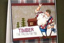 Timber / SugarPea Designs - Timber stamp set inspiration board