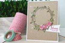 Funky Wreath - Spring Addition / SugarPea Designs - Funky Wreath - Spring Addition stamp set Inspiration Board
