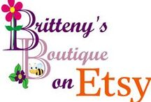 Britteny's Boutique on Etsy / Welcome one and all to Britteny's Boutique where I am crafting heirloom quality treasures for babies, toddlers, and children, one stitch at a time!  Come on in and browse around! You will find many items from baby sweater sets, stuffed friends, crochet patterns and much more!