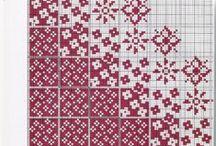 patterns in color / Узоры для жаккарда, вышивки крестом (счетным стежком)