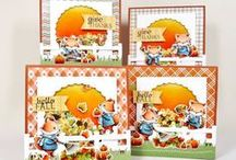 Fall Fox / SugarPea Designs - Fall Fox Stamp Set Inspiration Board