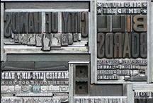 Graphic Design - Old Printing Methods / Letterpress, linoleum, wood stamps, etc...