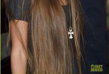 Very Long Hairstyles; pelo muy largo; Lange Haare / Very Long Hairstyles; pelo muy largo; Lange Haare  The average rate of hair growth is about 1.25 centimetres or 0.5 inches per month, or about 15 centimetres or 6 inches per year. Hair follows a specific growth cycle with three distinct and concurrent phases: anagen, catagen, and telogen phases. Each phase has specific characteristics that determine the length of the hair. / by K. Douglas Pings