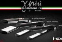 Gamma Più I-Extra /  Italian high-tech for professional styling!!!  • Electronic digital control with 1 degree step temperature adjustment • LCD display with temperature indication • Floating Nano Titanium plates • Version XL Digital Control: large straightening surface 1,65 x 3,5""
