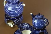 POLISH pottery Tea pots, tea sets, cups and saucers / by Kay Willis