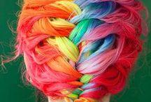 Rainbow Hairstyles /