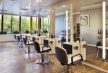 Salon Flooring Design / Our salon flooring design board is a collection of salon flooring installations that inspire us, and can be achieved with luxury vinyl tile. / by Parterre Flooring