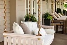 Outdoor Space Decor / Beautiful outdoor spaces- boosted in beauty with outdoor furniture.