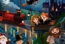 Harry Potter draws / Very beatifull draws of  Harry Potter (to cach ideas:D) // preciosos dibujos de Harry Potter ( para comer ideas:D)