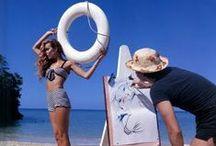 summertime. / beach bums. bikinis. beachy waves. sand and surf.