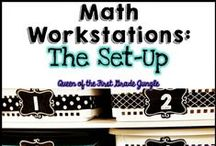 MATH {Work Stations} + Daily 3 / Ideas for implementing a workshop approach to math. Work Stations and Daily 3 Math
