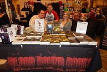Staff and Friends of Blood Bound Books / Various conventions and events that BBB has made an appearance