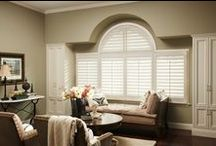 Specialty Window Treatments / Eclipse® Shutters are custom made for arches, specialty shaped windows, bay and bow windows, French doors, room dividers and closet doors.