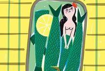 art | mermaids / Sea ladies.