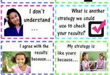 Speaking & Listening {Collaborative Conversations} / Tips and ideas for helping students learn how to engage and sustain in meaningful conversations that deepens the understanding of the participants.