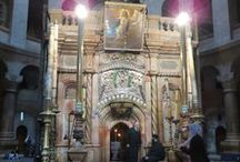 The Holy Land / The places associated with Jesus, the Virgin Mary, the Apostles, and the many saints through history who have lived and visited these places.
