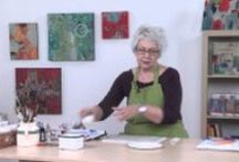 art tutorials and artist videos / focus is on abstract painting and (unavoidably) a few tips how to create journal pages