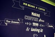 Cafe Chalk Art / Stand out from competitors and wow your customers with cool cafe chalk art murals and signage. Incorporate your logo into designs to make your brand more memorable!