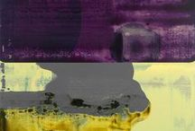 abstract art: vibrating fields of colour