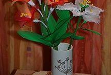 Harisnyavirágok / Harisnyából készült virágok