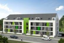 Apartmenthaus Cicero / Apartments der DREGER Immobiliengruppe für Kapitalanleger in Aschaffenburg - vom Spatenstich bis zu Fertigstellung