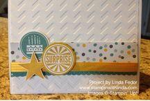 Stampin up / Lauter schöne Dinge - mit  Phantasie & Papier, Stempeln und Stanzen von Stampin up kreiert