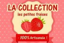 Les petites fraises / Voici le tableau où je vous présente mes petites fraises en bijoux entièrement réalisés à la main ! D'autres ne tarderont pas à venir !